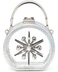 Aspinal of London Micro Hat Box - Metallic