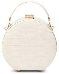Aspinal of London Mini Hat Box - White