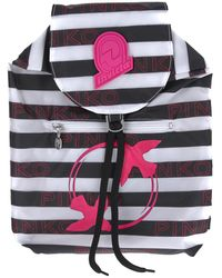 Pinko Packable Striped Backpack - Multicolour