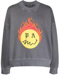 Palm Angels Burning Head Sweatshirt - Black