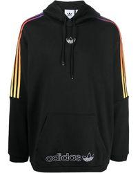 adidas Originals 3-stripes Sprt Embroidered Hoodie - Black