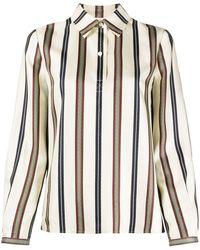 Tory Burch Striped Silk Shirt - Multicolour