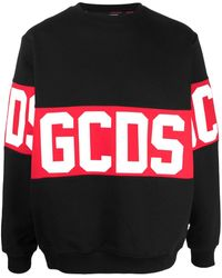 Gcds Large Logo Print Jumper - Black