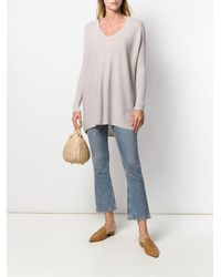 Gentry Portofino Knit V-neck Longline Jumper - Multicolour