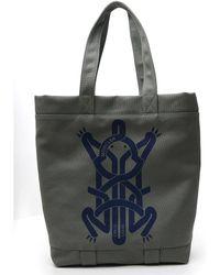 5 MONCLER CRAIG GREEN Canvas Shopper Bag With Frontal Logo Craig Green.