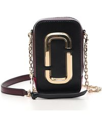 Marc Jacobs - Black/red Leather The Hot Shot Crossbody Bag - Lyst