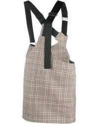 Junya Watanabe Checked Buckled-strap Skirt - Multicolour
