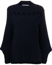 Victoria Beckham Cut-out Bishop Sleeves Sweater - Multicolor