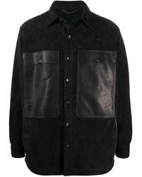 AJMONE Button Shirt Jacket - Black