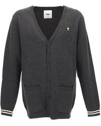 Vans Black Cotton Fine-knit Stripe-cuff Cardigan
