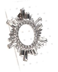 """AMINA MUADDI """"begum"""" Earrings In Silver Colored Brass With Crystals. - Metallic"""