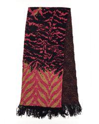Diane von Furstenberg Pink Scarf In Polyamide With A Reversible Design.