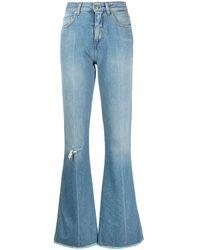 Golden Goose Distressed Flared Jeans - Blue