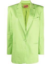 ANDAMANE Single-button Boxy Blazer - Green