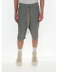 Rick Owens X Champion Logo-embroidered Shell Shorts - Grey