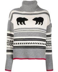 Parajumpers Koda Bear-intarsia Sweater - Gray