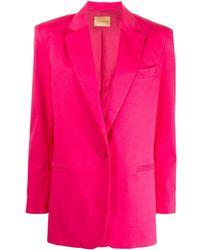 ANDAMANE Shantung Tailored Blazer - Pink