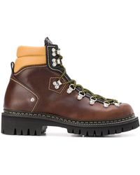 DSquared² Chunky Sole Hiking Boots - Brown