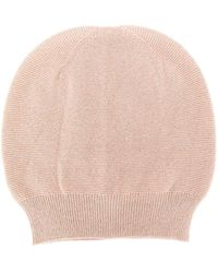 Laneus Round Top Fine Knit Beanie Hat - Multicolour