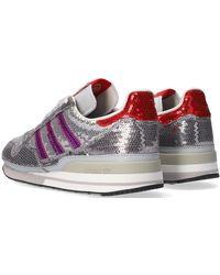 adidas Grijze Lage Sneakers Zx 500 W - Grijs