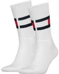 Tommy Hilfiger Weiße Socken Th Flag