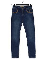 Mos Mosh Blauwe Slim Fit Jeans Naomi Shade Blue Jeans