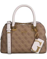 Guess Camel Schoudertas Mika Small Girlfriend Satchel - Bruin