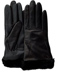 UGG Zwarte Handschoenen Classic Leather Smart Glove