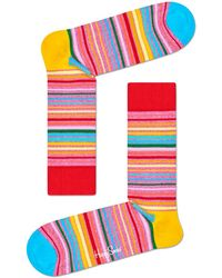Happy Socks Mehrfarbige/bunte Socken Pride Sunrise - Rot
