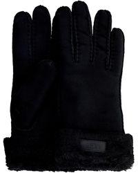 UGG Zwarte Handschoenen Turn Cuff Glove