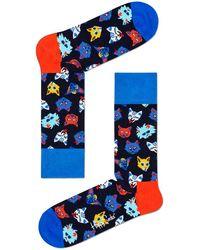 Happy Socks - Mehrfarbige/bunte Socken Funny Cat - Lyst