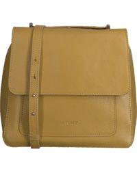 MYOMY Gele Schoudertas My Boxy Bag Locker - Geel