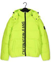 Calvin Klein Gele Gewatteerde Jas Essentials Non Down Jacket - Meerkleurig