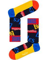 Happy Socks Mehrfarbige/bunte Socken Beatles In The Name Of Sock - Blau