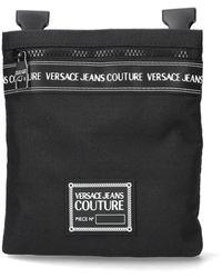 Versace Jeans Couture Sac Bandoulière Brand Stripe Sketch 5 - Noir