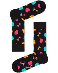 Happy Socks Sokken Apple - Zwart