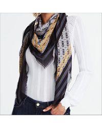 Guess Zwarte Sjaal Candace Printed Kefiah