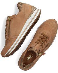Gabor Camel Lage Sneakers 528 - Naturel