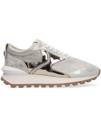 Voile Blanche Gouden Lage Sneakers Qwark Woman - Metallic