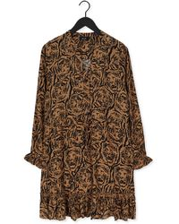 Alix The Label Bruine Mini Jurk Tigerhead Dress