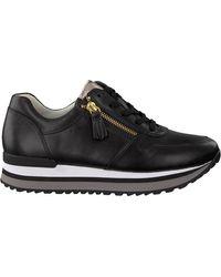 Gabor Zwarte Lage Sneakers 448