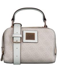 Guess Beige Schoudertas Candace Mini Crossbody - Grijs