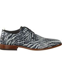 Rehab Business Schuhe Greg Croco Zebra - Grau