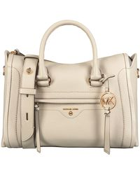 Michael Kors Beige Handtas Md Satchel - Naturel