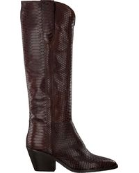 Notre-v - Braune Hohe Stiefel Ah69 - Lyst