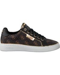 Guess Bruine Lage Sneakers Banq/active