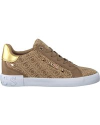 Guess Beige Lage Sneakers Puxly - Naturel