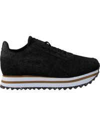 Woden Sneaker Low Ydun Ii Plateau - Schwarz