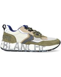Voile Blanche Beige Lage Sneakers Club01 - Naturel