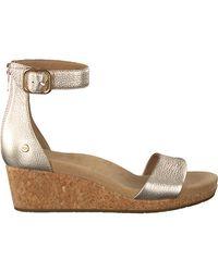 UGG Gouden Sandalen Zoe Ii - Metallic